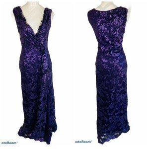 Tadashi Shoji Sequin Formal Slit Dress Size 4